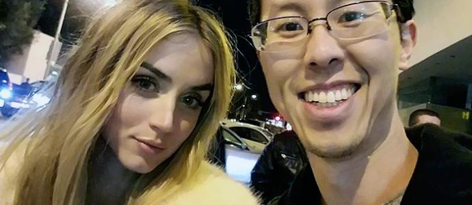 Nova foto de Ana com um fã em Los Angeles